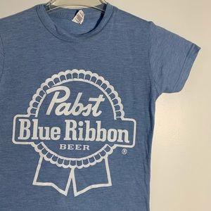 PABST Blue Ribbon Beer Short Sleeve Shirt . S